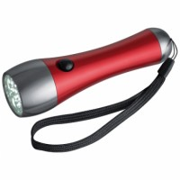 Zaklamp in metallick kleuren en 21 LEDs