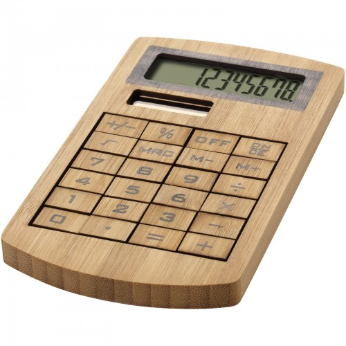 Houten calculator, bamboe