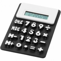 zwarte calculator met logo