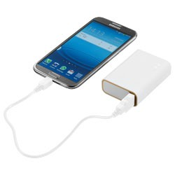 Bedrukte powerbank wit