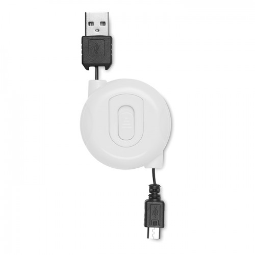 Witte USBmicroUSB stekkers
