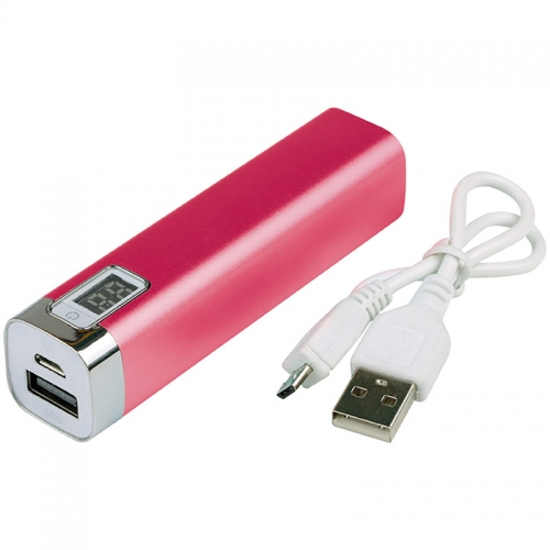 Powerbank met indicator met logo