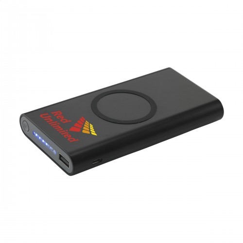 Wireless Powerbank 8000 met uw logo