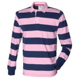 Navy pink rugby shirt
