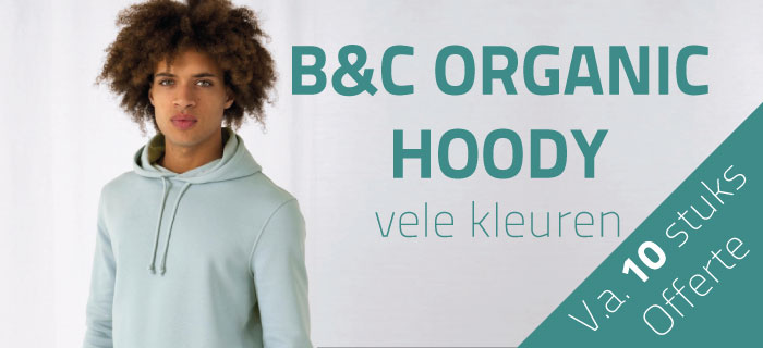NIEUW : Organic Hoody by B&C Collection